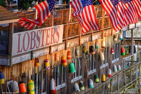 bar harbor maine flags lobster buoys