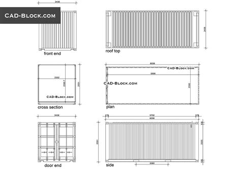 shipping container  cad drawings