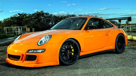 porsche 911 orange porsche 911 gt3 tuning orange sportcar wallpaper