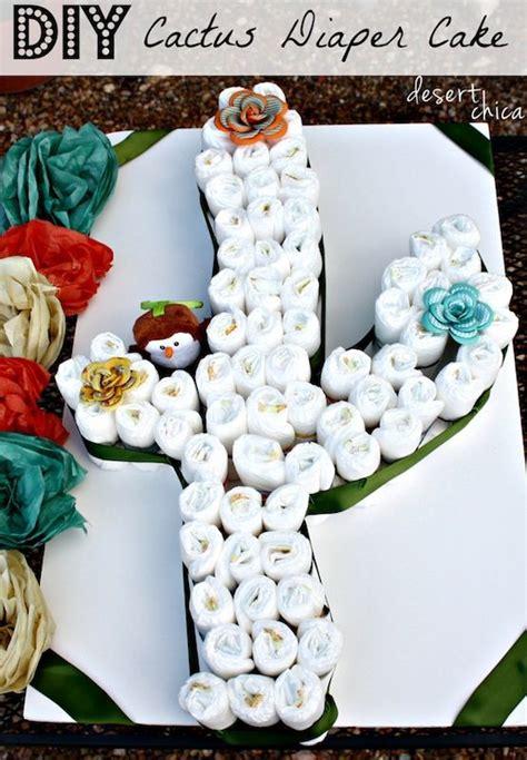 create  cactus diaper cake  baby diapers diy