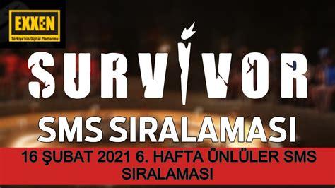 Yarışmadan elenecek isim survivor 11 temmuz cumartesi 133. Exxen Survivor Sms Sıralaması 16 Şubat 2021 Survivor 6 ...