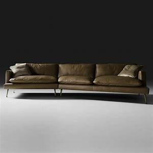 Modern Italian Leather Modular Sofa