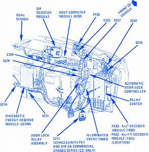 Cadillac Devile 1996 Engine Part Electrical Circuit Wiring Diagram