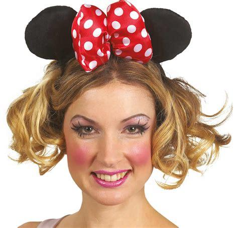 minnie maus karneval haarreif minnie maus schleife ohren karneval fasching ebay