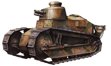 french renault tank renault ft17 vehicles