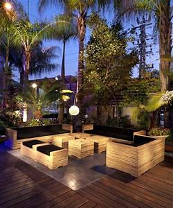 eclairage exterieur sol terrasse bois lanterne de With eclairage de sol exterieur