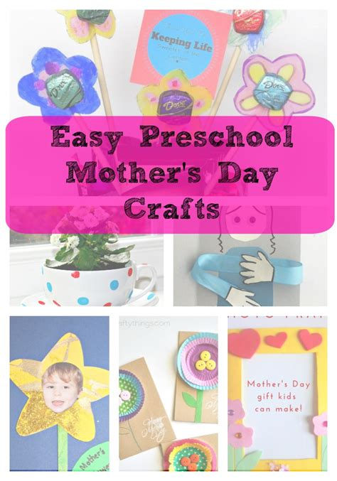 s day crafts gift ideas great for preschool 321 | easy preschool mothers day crafts title