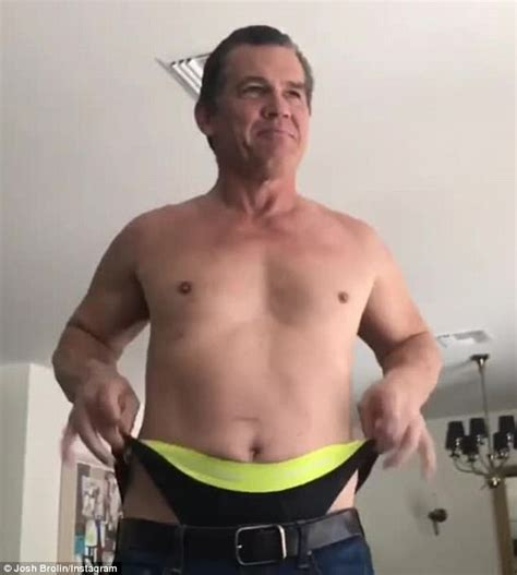 shirtless josh brolin    wedgie  video
