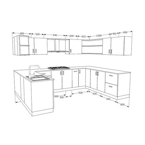 kitchen floor plans with dimensions buy heron bohemian u shaped kitchen homelane india 8075