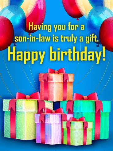 gift happy birthday card  son  law