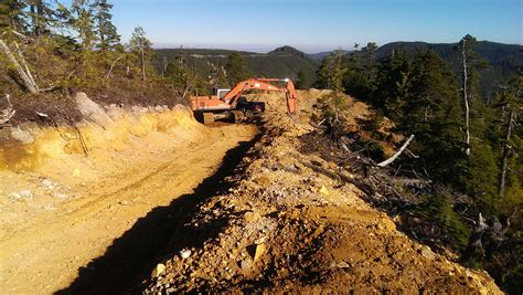 logging road construction  bc timber sales north