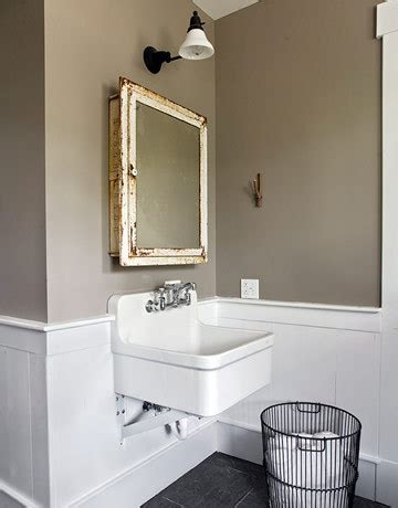 taupe paint contemporary bathroom apartment therapy