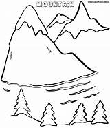 Mountain Coloring Pages Colorings Nature Mountain5 sketch template