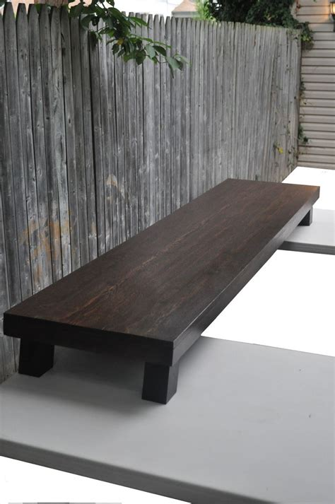 custom wenge finish  bench table  neilson woodworks