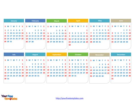calendars powerpoint template  powerpoint