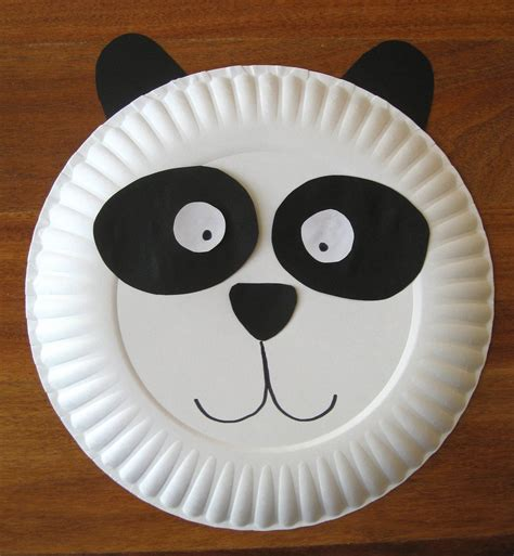 panda crafts for preschoolers panda paper plate craft derosier my creative 496