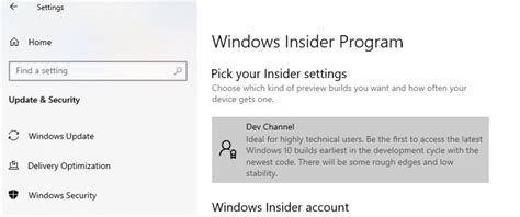 New Channels Finally Start Appearing for Windows 10 Insiders