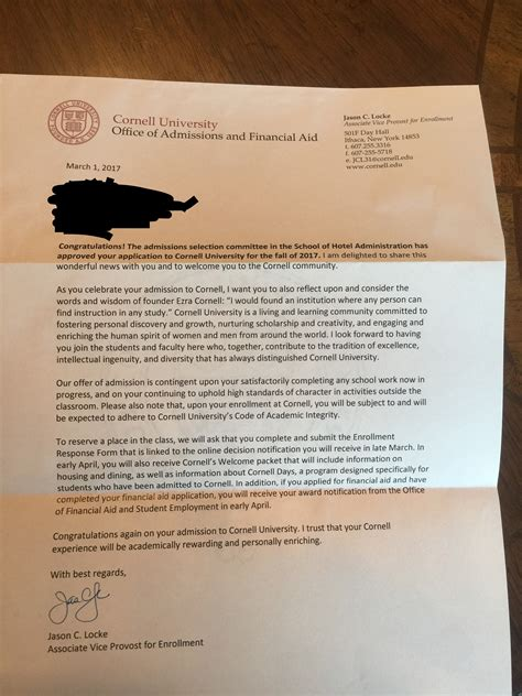 cornell likely letter bеаutіful cornell likely letter defining admissions 28697