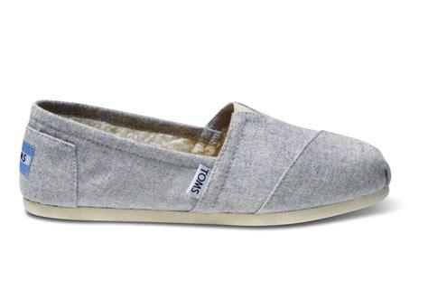 light grey wool lyst toms grey light wool women 39 s classics in gray