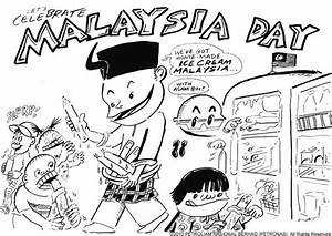 Let's Celebrate Malaysia Day Coloring Page