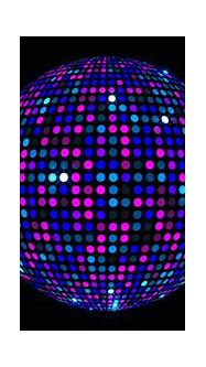 3D Disco Mirror Ball Reflecting Colorful Lights And Lasers ...