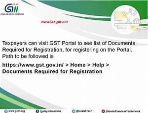 list of documents required for gst registration With documents required property registration