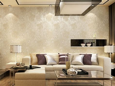 european modern  woven floral embossed  wallpaper