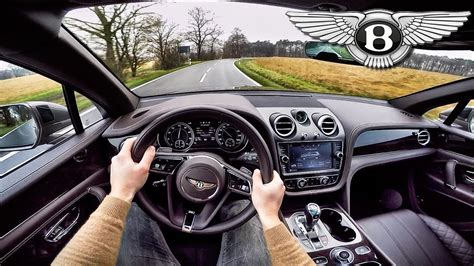 bentley bentayga pov test drive interior sound
