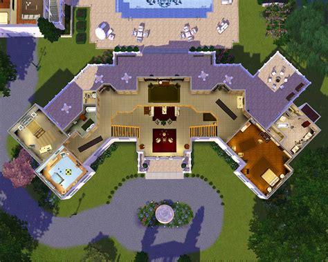 mansion floor plans sims building plans