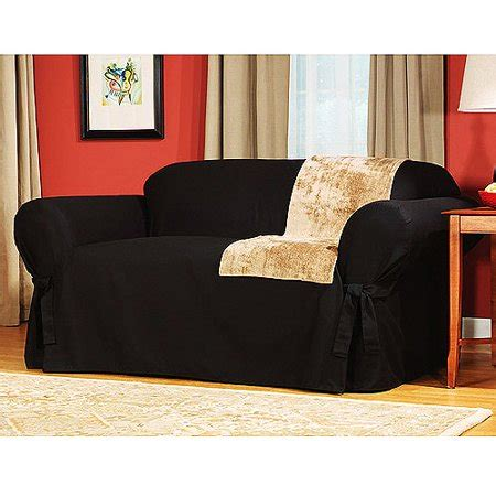 Loveseat Cover Walmart by Mainstays Cotton Duck Sofa Slipcover Walmart