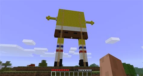 Spongebob Pixel Art Minecraft Project