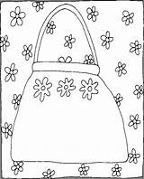 Purse Coloring Pages Things Coloringpages101 sketch template