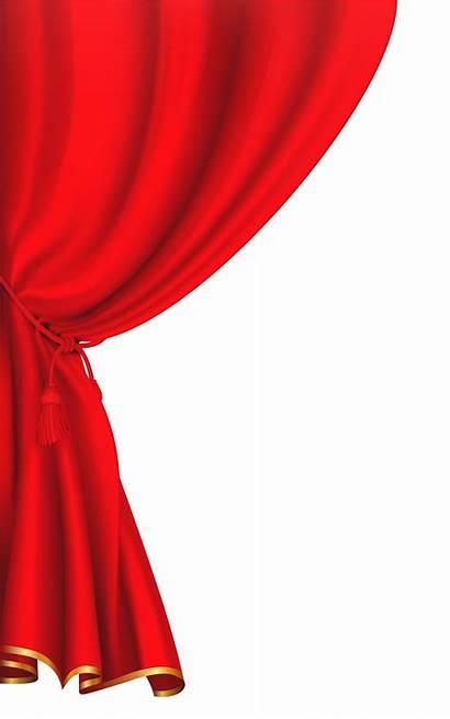 Curtain Curtains Clipart Cortinas Transparent Unveiling Decorative