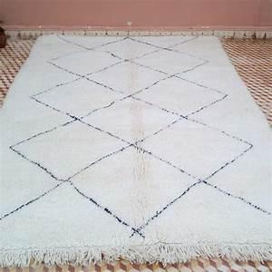 tapis beni ouarain en laine de 260 x 160 cm de With tapis beni ouarain