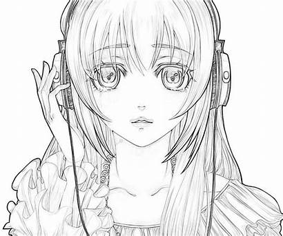 Coloring Sad Miku Hatsune Anime Pages Luka
