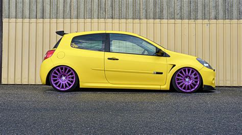 Renault, Renault Clio, Stance, Yellow Cars, Car Wallpapers