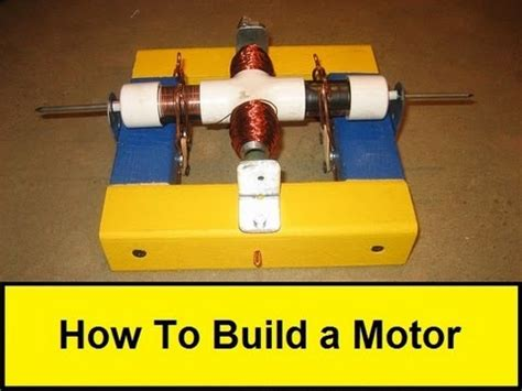 Build An Electric Motor by How To Build A Motor Howtolou