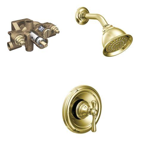 Moen Kingsley Faucet Polished Brass by Moen Kingsley Single Handle 1 Spray Moentrol Shower Faucet