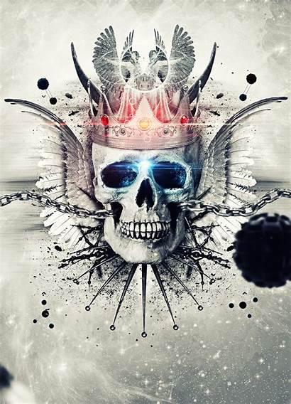 Skull King Wallpapers Tattoo Skeleton Deviantart Skulls