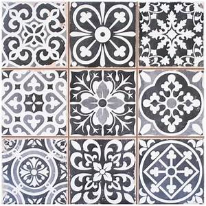 25 best ideas about carrelage ancien on pinterest for Kitchen colors with white cabinets with papier peint imitation carreaux de ciment