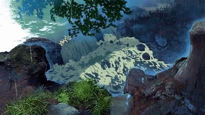 Garden Anime Gifs Words Scenery Aesthetic Nature