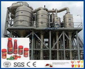 Tomato Sauce Making Machine Tomato Paste Production Line With Hot    Cold Break System