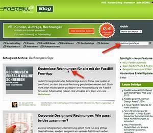 Rechnung online schreiben kostenlos im web rechnungen for Fastbill rechnungsvorlage