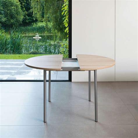 table de cuisine ronde en stratifi 233 basic avec rallonge 4 pieds tables chaises et tabourets