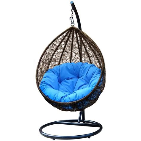 maxwell outdoor rattan hanging egg chair in brown buy sale