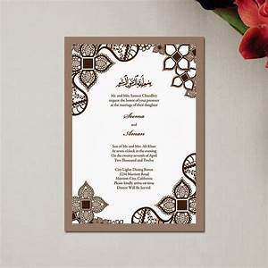 muslim wedding invitations templates With traditional muslim wedding invitations