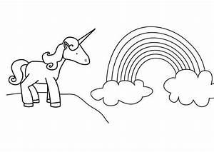 Regenbogen Zum Ausmalen : kostenlose malvorlage m rchen einhorn und regenbogen zum ausmalen ~ Buech-reservation.com Haus und Dekorationen