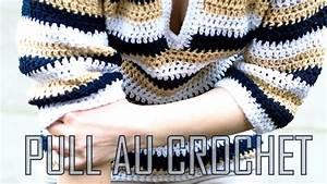 Pull  U00e0 Rayures Au Crochet   1  2
