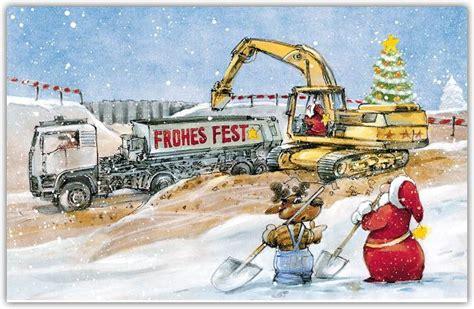 lustige weihnachtsbranchenkarte fuer tiefbau und baufirmen