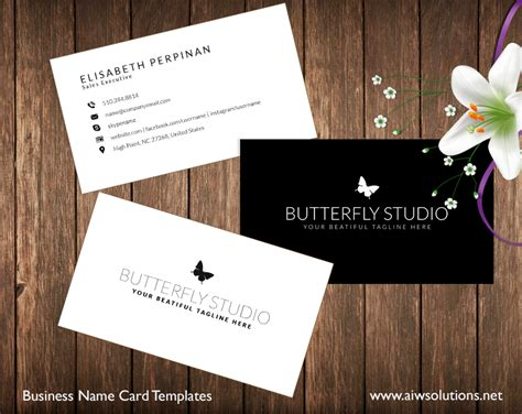 Premade Business Card Template, Name Card Template, Photography name card, model name card